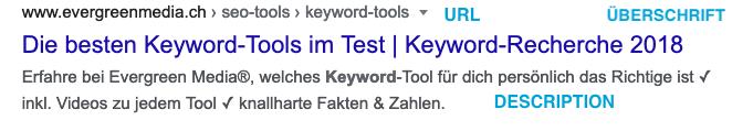 Text, Keyword und die Suchmaschine